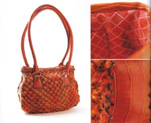 Classic Satchel knitted bag in One Ball Knits: Bags