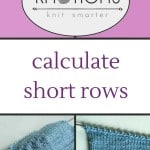 Using gauge and your own measurements to calculate *your* set of short rows.