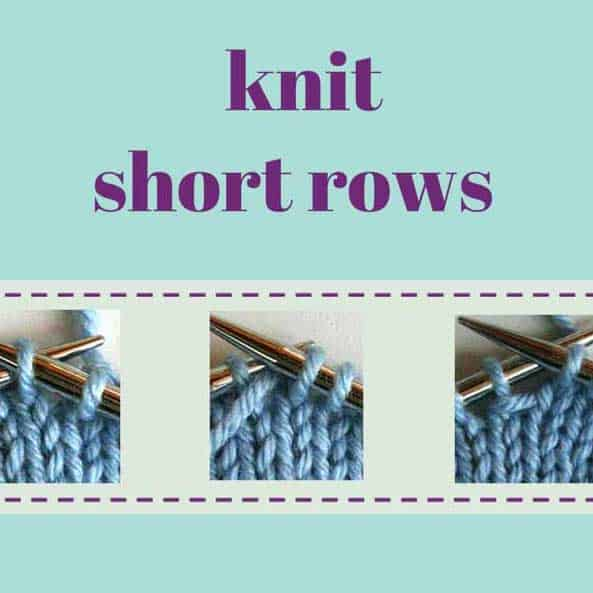 how to knit wrap and turn short rows