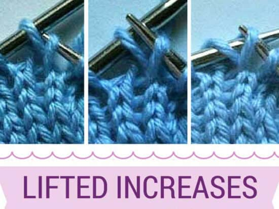 how to knit lifted increases
