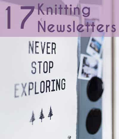 17 Knitting Newsletters