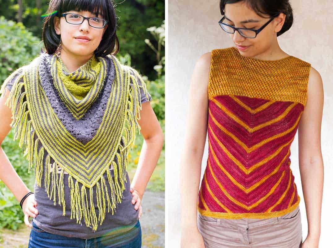 aroha knits shawl and top
