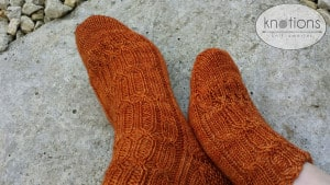 Priory Socks by Louise Tilbrook Designs