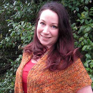 Feathered Shawl by Elizabeth Helmich