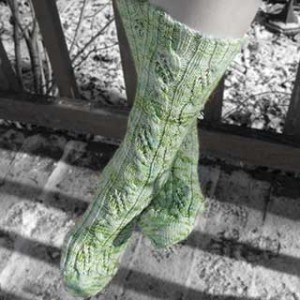 Step Into Spring Socks by Mary E. Rose