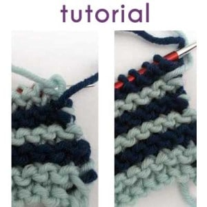 Tutorial: Carrying yarn up the side
