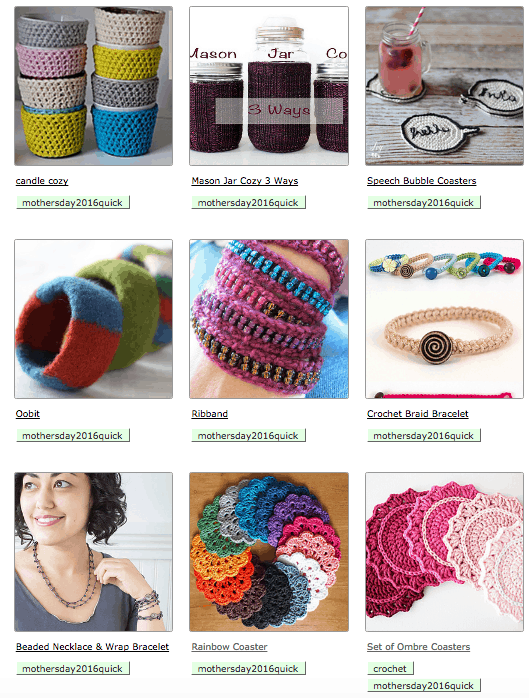 A few ideas for last minute knit and crochet projects