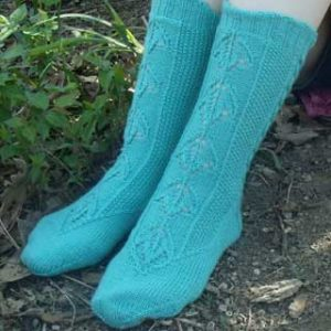 A Walk in the Woods sock by Mary E. Rose