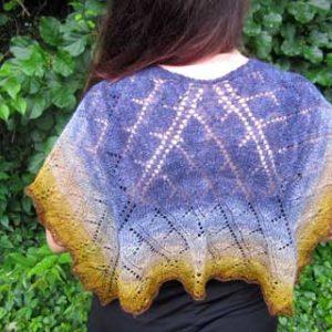 Trident Leaves shawl by Elizabeth Helmich