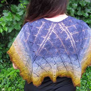 Trident Leaves shawl by Elizabeth Helmich