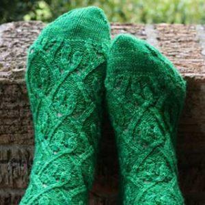 Hanging Vines Socks by Kelly Porpiglia