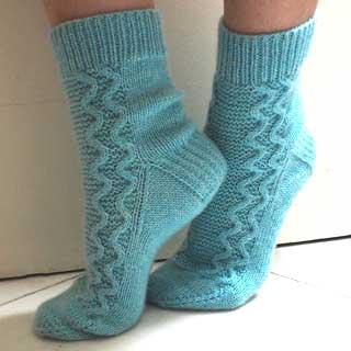 High Tide Socks by Solène Le Roux
