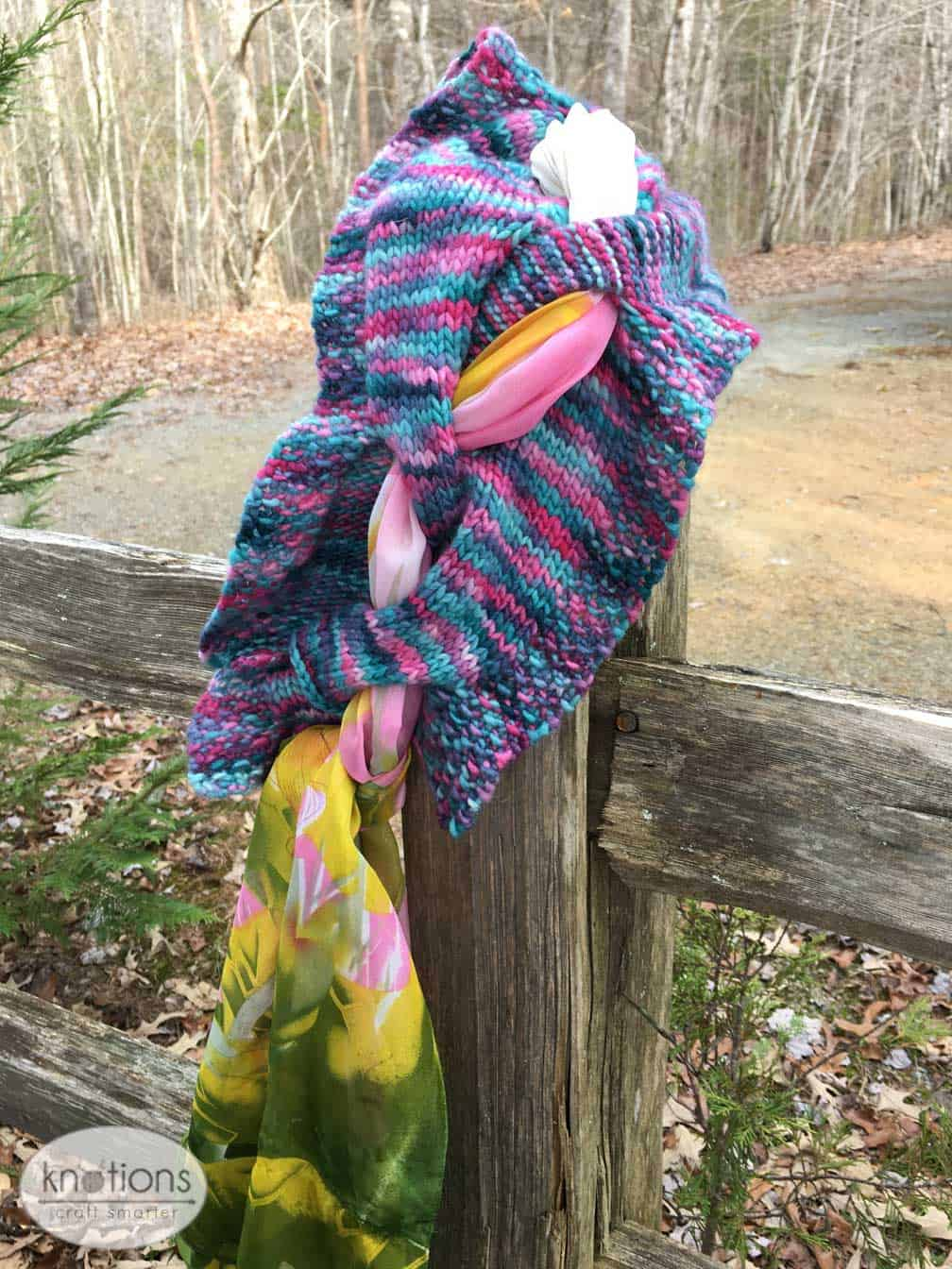 Knarly Vine Scarf by Hummingbird Lace
