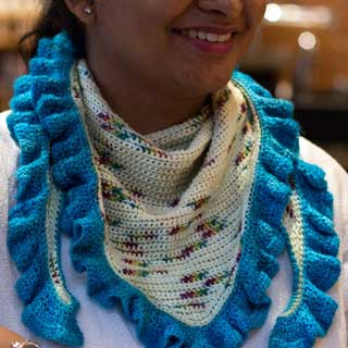 Speckled Wings Shawl by Mary Renji