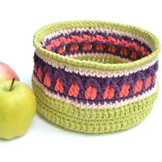 Fall Apple Basket by Lilla Björn Crochet