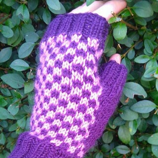 Checkerboard Mitts