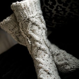 Misty Cable Socks