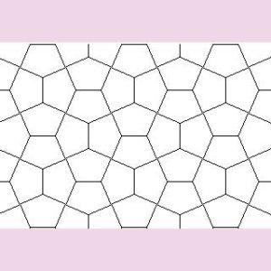 Pentagons don't make a flat blanket