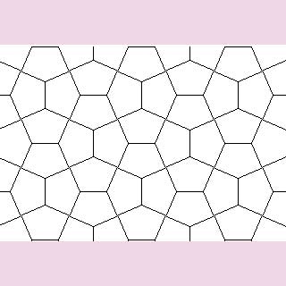 Pentagons don't make a flat blanket