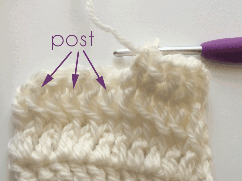 Front Post Double Crochet Fpdc And Back Post Double Crochet Bpdc