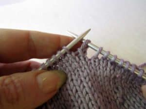 Catch Method Short Rows Step 1 Purl Side