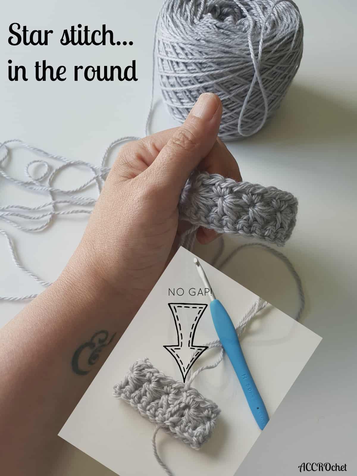 Tutorial Crochet Star Stitch Knotions