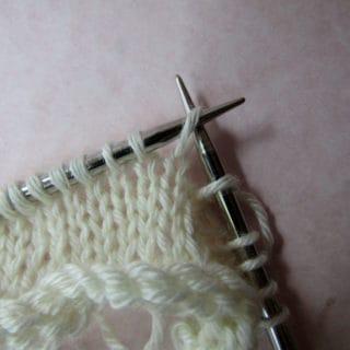 Gathered Stitch - Reorient the stitches