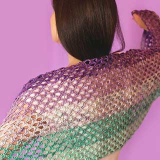 Mermaid Fade Shawl