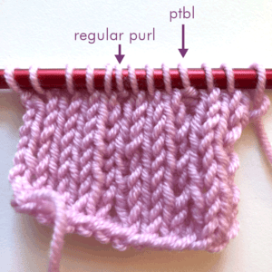 [tutorial] Purl through Back Loop (ptbl)