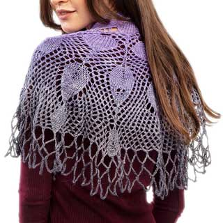 A Sprinkling of Leaves Shawl