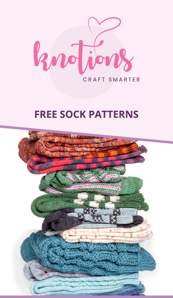 Free sock patterns from the December 2018 issue of Knotions Magazine.