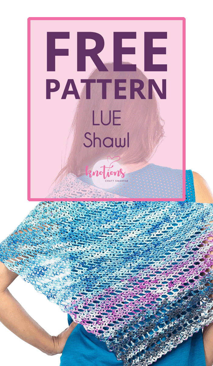 Free crochet pattern for an asymmetric shawl with strips of eyelets interspersing solid sections with optional beads. Great for multi-colored hand-dyeds!