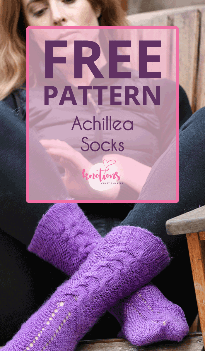 Free pattern for cuff-down knitted socks. Combines a horseshoe cable and eyelets with a honeycomb stitch for great stretch and sizing flexibility.