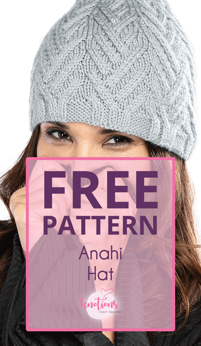 Free pattern for a woman's hat with striped cables traveling up to the top of the hat. An optional pom-pom finishes off the silhouette.