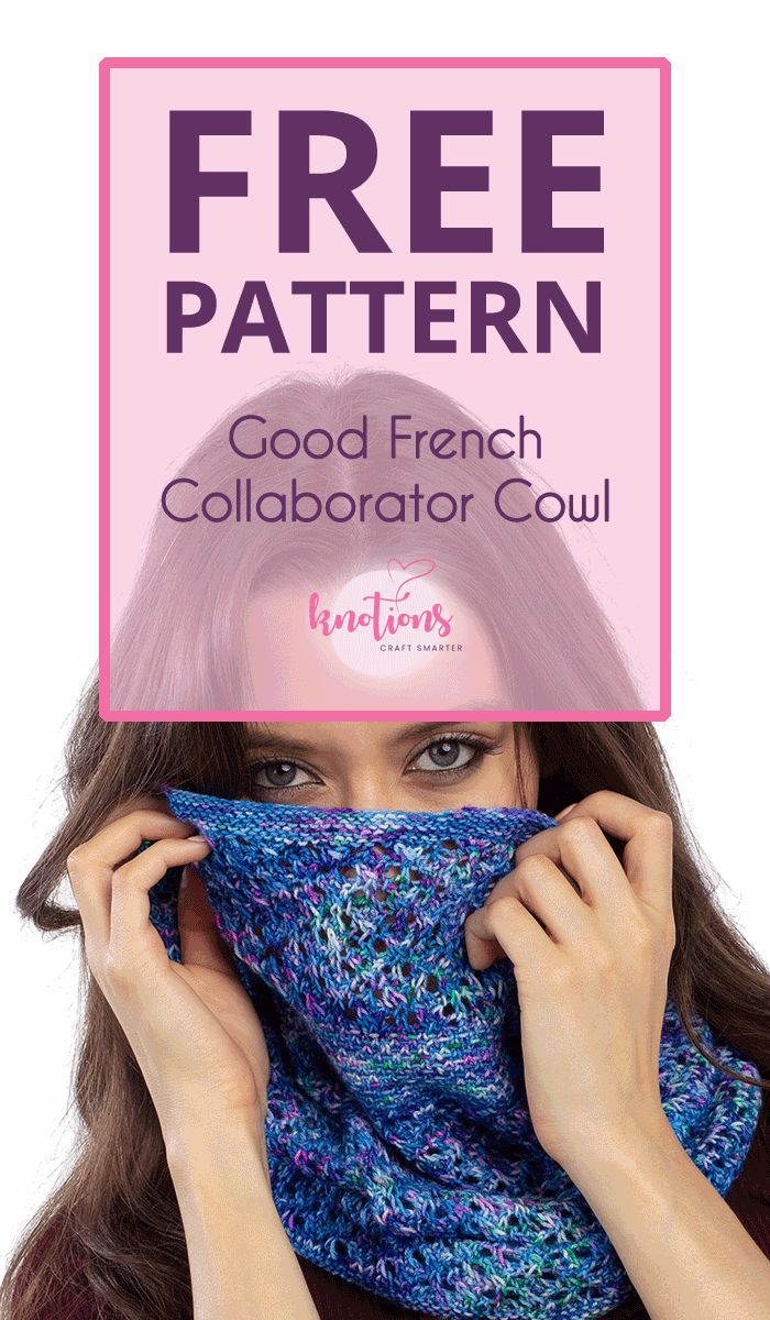 Free pattern for a knitted cowl using strips of slip stitches alternating with a simple lace pattern. A great one-skein project!