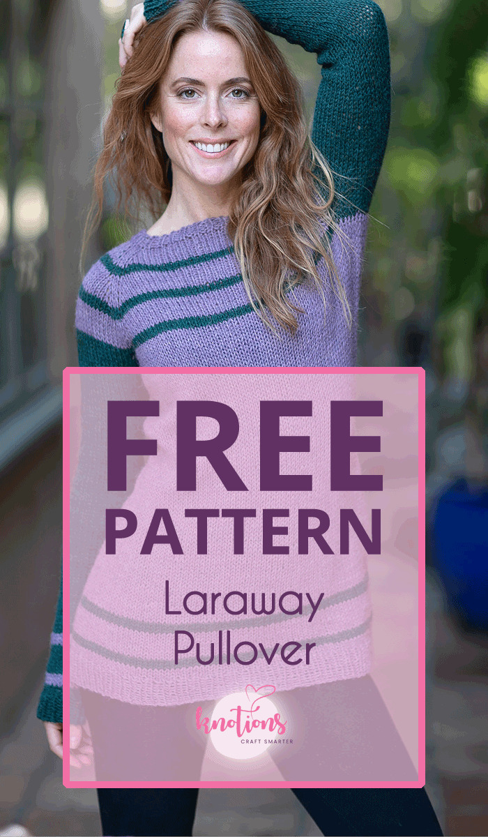 Free pattern for a top-down ladies raglan sweater with simple stripes and feminine waist-shaping for a flattering silhouette.