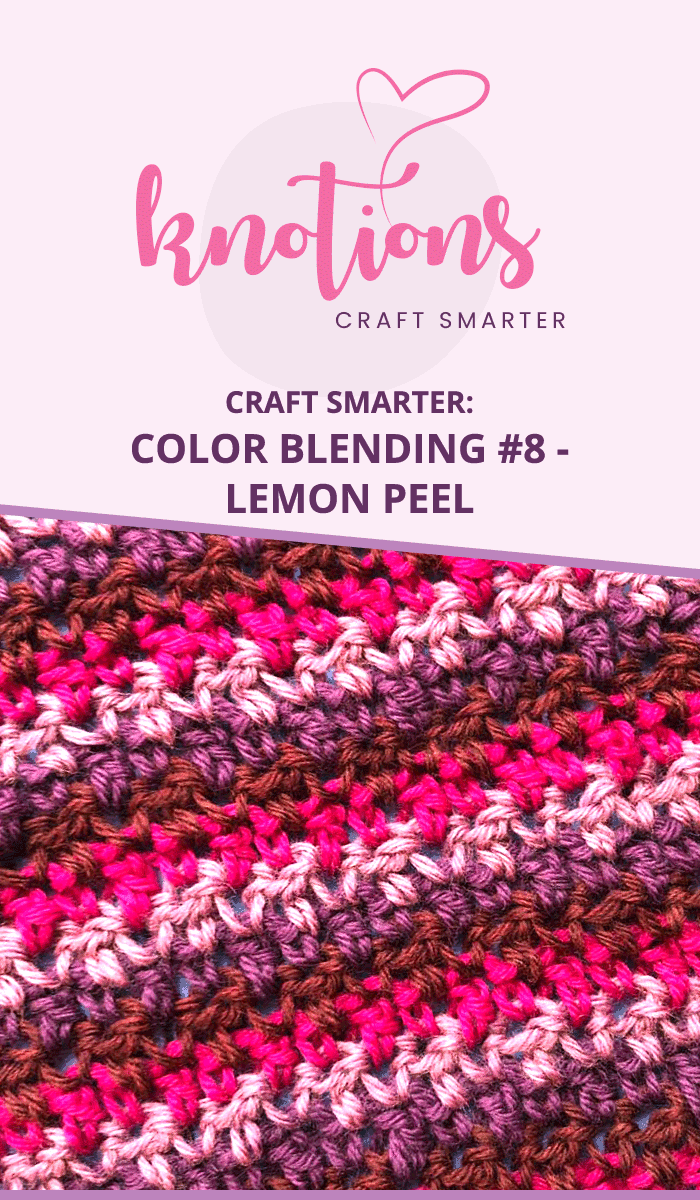 Color blending with the Lemon Peel Stitch. Blend colors together beautifully in crochet.