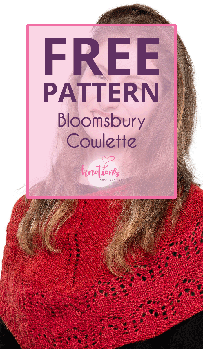 Free knitting pattern for a beautiful cowlette, using both stockinette stitch and a lace edge to give a bit more pizazz.