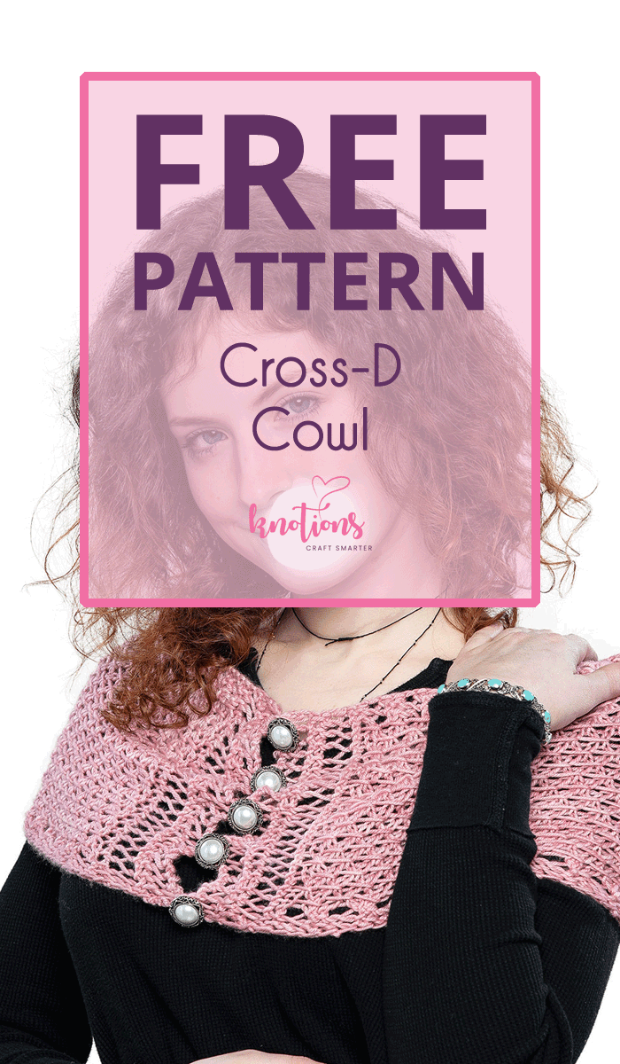 Free knitting pattern for a cowl. Uses DK-weight yarn and a simple pass over stitch to make a versatile cowl.