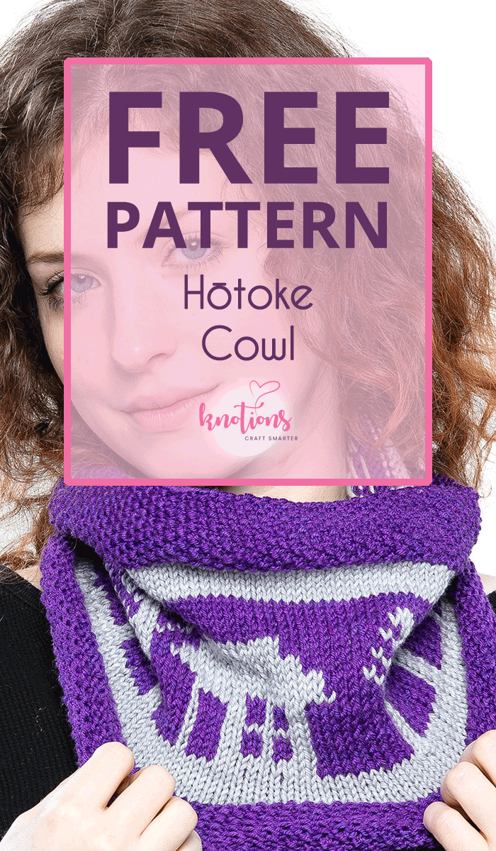 Free knitting pattern for a colorwork cowl. The houses and trees are charted for easy knitting.