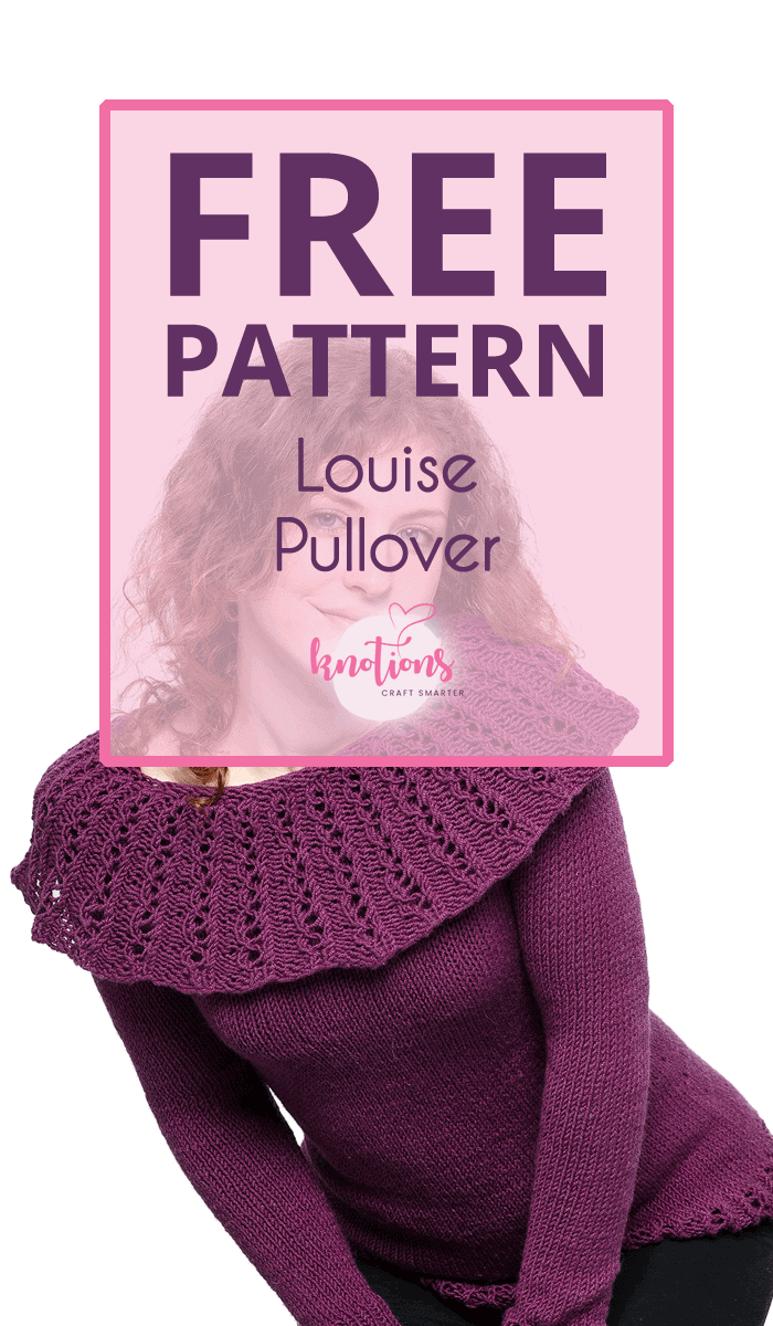 Free knitting pattern for a top-down sweater. Seamless with raglan sleeves, a gorgeous, wide cowl in a simple lace stitch is the shop stopper here.