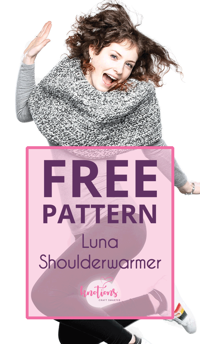 Free crochet pattern for a shoulder warmer (or shoulder cozy) using basic stitches that create a beautiful texture!