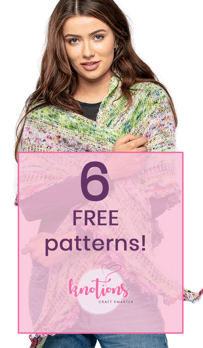 Knit or crochet with our gorgeous free patterns for shawls, socks, a cowl and a tote bag.