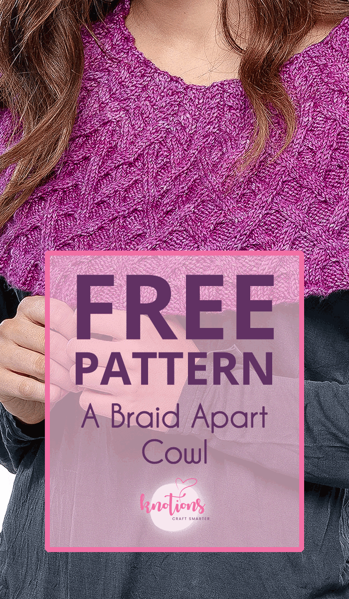 Free knitting pattern for a cabled cowl that uses both the cables and some decreases to shape it to fit better around the neck and shoulders.