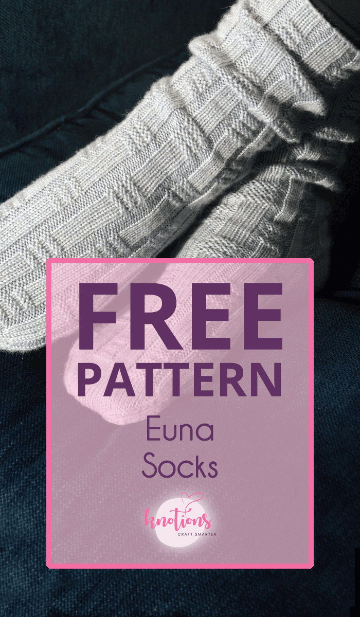 Free pattern for a knitted pair of socks. Using a simple texture and cuff-down knitting, this one will fly off the needles!