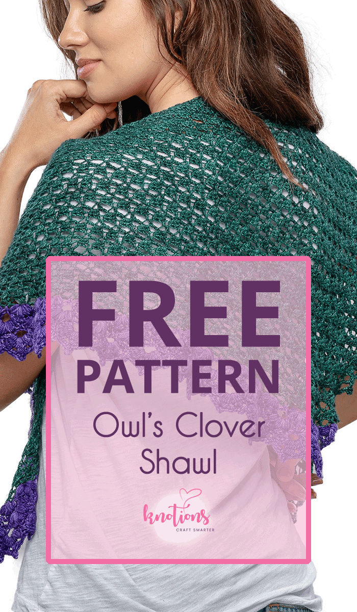 Free crochet pattern for a triangular-shaped shawl that's made side-to-side with increases. It uses a contrasting color yarn for the edge and fingering weight yarn to keep it light. Includes both written and charts.