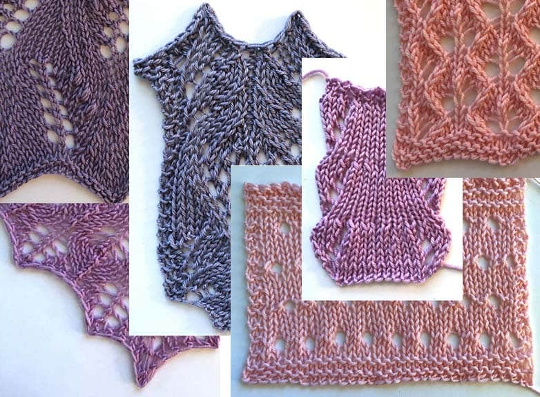 Lacestar by Liz Felgate for Knotions.com swatches of lace from the book
